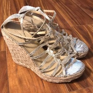 Bakers Espadrille Wedges Size 8.5